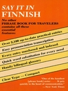 Say It in Finnish (eBook)